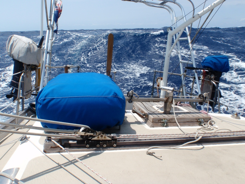 Rough seas - do what's necessary to make the boat safe, then relax
