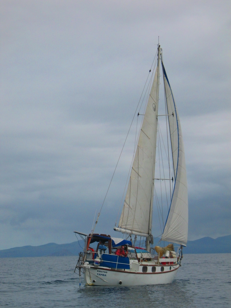 Mariah II, our first boat, a composite build and cutter rigged sloop.