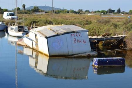A useful sunken boat!
