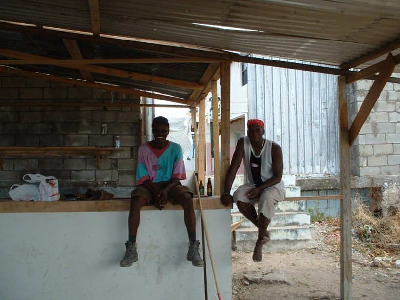 The 'body-guards' in the brothel in Barbados
