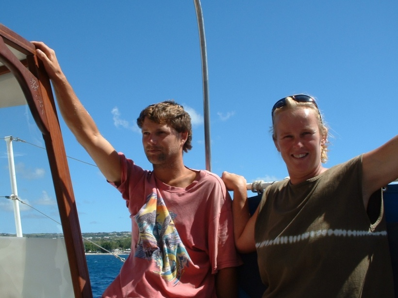 We couldn't have got the dinghy together without the help of Den and 'Tash.