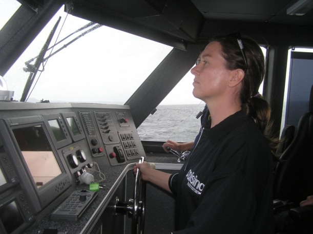 Practical exercises on police boats, while training others