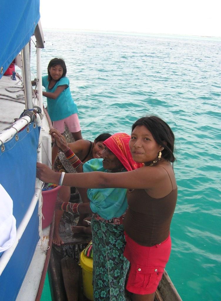 Locals selling Molas