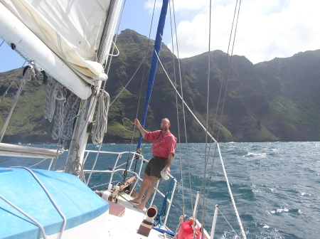 Getting into port is one of the best bits! Daniel's Bay, Marquesas.
