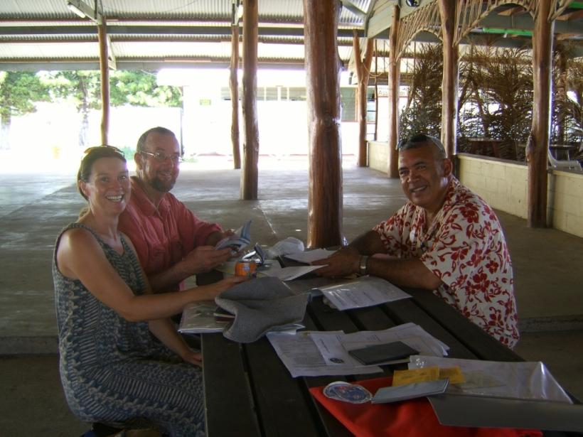 Checking in to Aitutaki