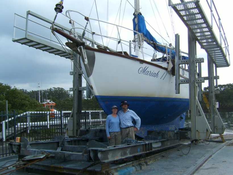 Sad day when we sold Mariah - during survey when the surveyor thought she was 'a fantastic boat!'