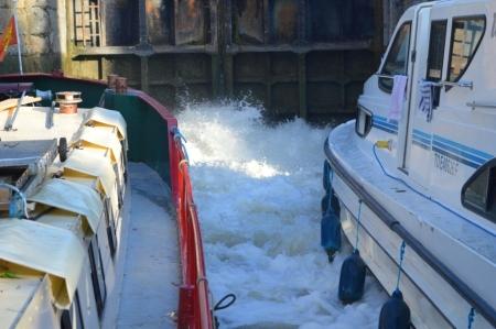 The wash keeps boats apart.