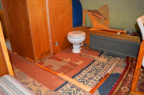 Cupboard gone - designing new 'bathroom'