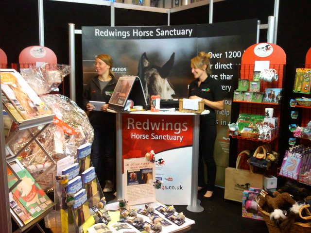 Redwings Stand and their wonderful team. My books are near the front.