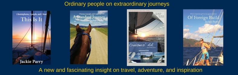 Jackie Parry sailing memoir and horse riding trail riding memoir