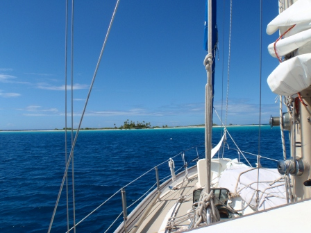 Anchored off Tahanea Atoll (in the Pacific Ocean)