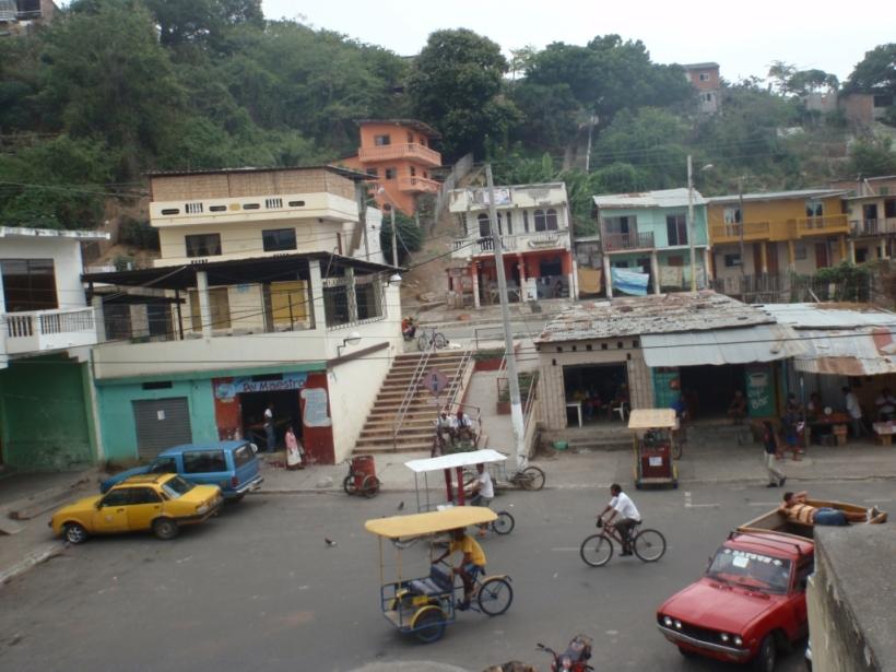 The town of Bahia de Caraquez