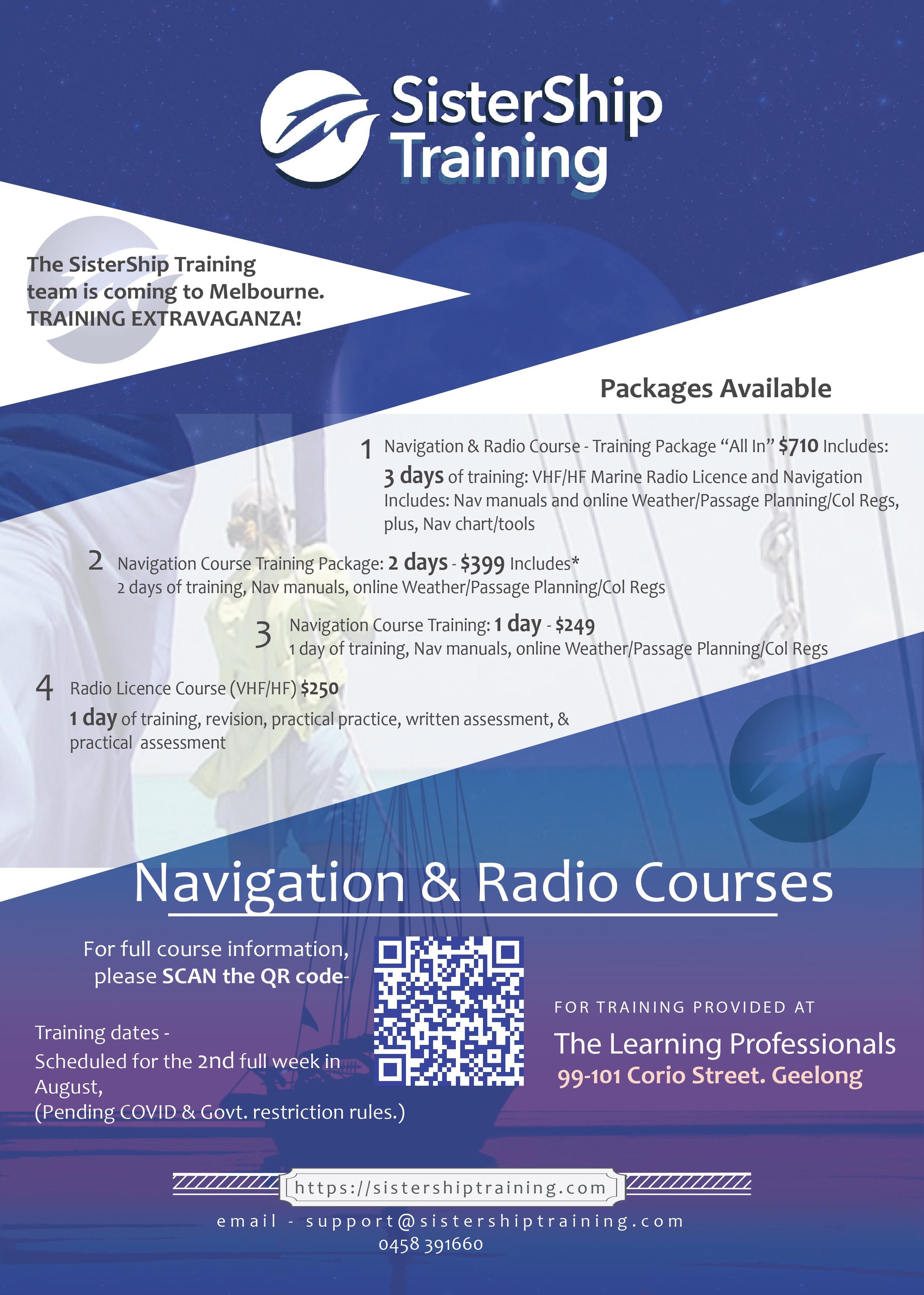 Navigation & Marine Radio Training Melbourne August